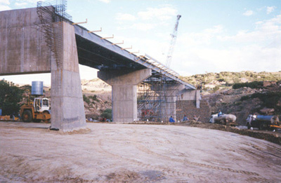 photo of steel beam bridge
